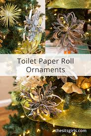 handmade tree ornaments toilet paper roll ornaments