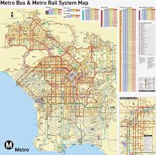 La Subway Map Los Angeles Transportation Maps Free Printable Maps