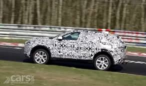 jaguar e pace suv caught on video at nurburgring ahead of debut