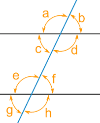 parallel lines and pairs of angles