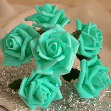 teal roses pool blue artificial flowers turquoise roses for wedding decor