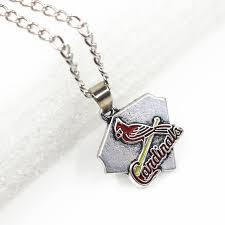 baseball jewelry new 12pcs st louis cardinals baseball necklace mlb sport necklace