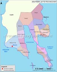 Map Of Southern Italy by Southern Leyte Map Map Of Southern Leyte Province Philippines