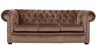 City  Seater Crushed Velvet Chocolate Chesterfield Sofa Made In - Chesterfield sofa uk