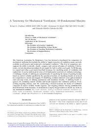 a taxonomy for mechanical ventilation 10 fundamental maxims pdf