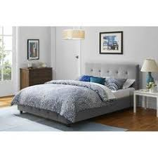 Low Profile Headboards Full Size Modern Black Metal Platform Bed Frame With Headboard And