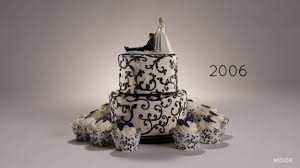 wedding cake gif 100 years of wedding cake trends in less than three minutes