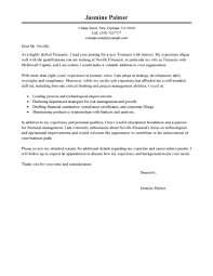 leading professional treasurer cover letter examples u0026 resources