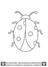 ladybug outline az coloring pages clip art library