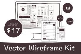 handdrawn vector wireframe kit for mobile and web apps only 17