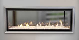 make double the impact with a see through double sided fire
