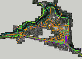 Mass Pike Exits Map The Amateur Planner The Pike Straightening In Context