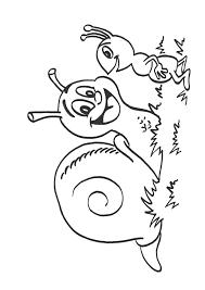 Coloriage escargot insecte sur Hugolescargotcom