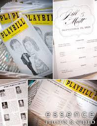 playbill wedding program wedding programs playbill glendalough manor