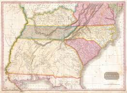 Southeastern Usa Map by File 1818 Pinkerton Map Of The Southeastern United States