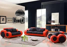 Elegant Red And Black Living Room Set Designs  Red Living Room - Complete living room sets