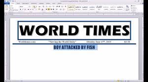 word 2010 newspaper project headline youtube