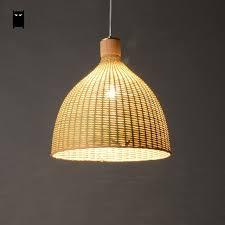 Woven Pendant Light Woven Bamboo Rattan Basket Lshade Pendant Light