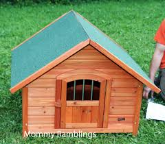 Dog On A Roof Pet Squeak U0027s Porch Pups Wood Dog House Review Mommy Ramblings