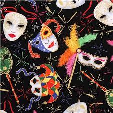 mardi gras skull mask black carnival mask fabric mardi gras from the usa retro fabric