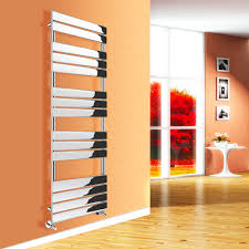 Small Heated Towel Rails For Bathrooms Designer Flat Panel Heated Towel Rail Bathroom Radiator Uk Centre