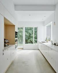 white kitchen cabinets floors best 60 modern kitchen white cabinets concrete floors