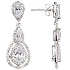 cubic zirconia drop earrings ivory co illuminate teardrop cubic zirconia drop