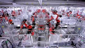 tesla factory tesla model s production line wired robots coub gifs with sound