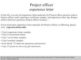 projectofficerexperienceletter 140823110442 phpapp01 thumbnail 4 jpg cb u003d1408791909