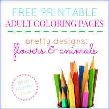 free printable flower u0026 animal coloring pages what mommy does