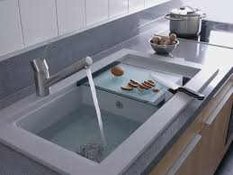 contemporary stainless kitchen sink for elegant kitchen fixtures