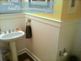 bathroom ideas with beadboard how to install beadboard wainscoting like a pro