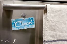 Dirty Clean Dishwasher Magnet How To Make A Diy Clean Dirty Dishwasher Sign U2013 Everyday Dishes U0026 Diy
