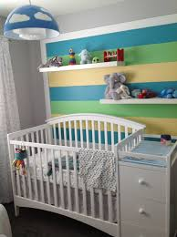 Kids Room Light Fixture by Baby Nursery Painted Stripes On Wall Behind Crib Crib Is