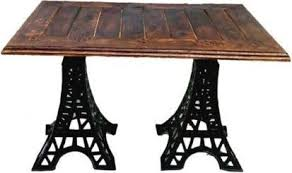 eiffel tower table acme production solid eiffel tower design rectangular side coffee