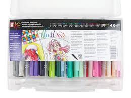 amazon com sakura xbr 6sa 6 piece koi coloring brush pen set