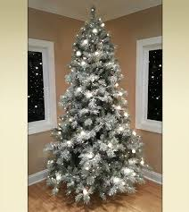 frosted elegance pine flocked artificial trees treetime
