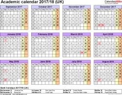 academic calendars 2017 2018 as free printable excel templates