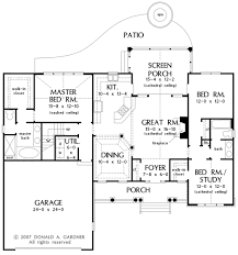 House Plans With Screened Porch Country Style House Plan 3 Beds 2 00 Baths 1668 Sq Ft Plan 929 10