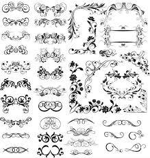ornamental floral dividers 4 ai format free vector