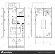 Floor Plan Icons by Standard Furniture Symbols Used In Architecture U2014 Stock Vector