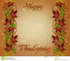 thanksgiving fall border 3d stock illustration image 6436699