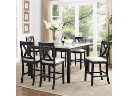 Counter Height Dining Room Table elements international greystone counter height dining set with x