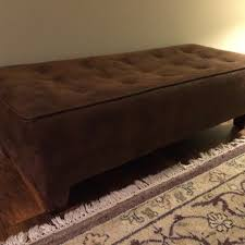 Suede Ottoman Find More Brown Faux Suede Ottoman Euc Measures 53 Inches