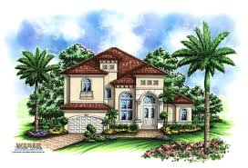 luxury waterfront home plan incredible mediterranean house plans