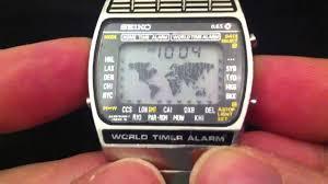 World Map Watch Seiko A239 World Time Watch Youtube