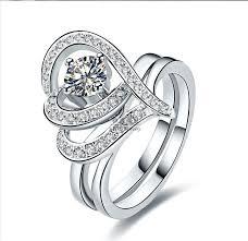 love rings design images New design heart promise love ring set synthetic diamond wedding jpg