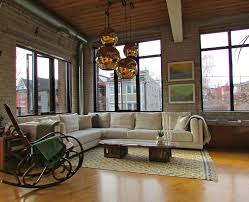 Industrial Living Room by Wood Rocking Chair Living Room Industrial With Arched Windows