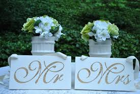 Mr And Mrs Sign For Wedding Creative Wedding Ideas From Etsy Mr And Mrs Decor Sparkly Silver Sign