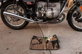 bmw motorcycle repair shops union garage vintage bmw motorcycle tool roll r90s ride